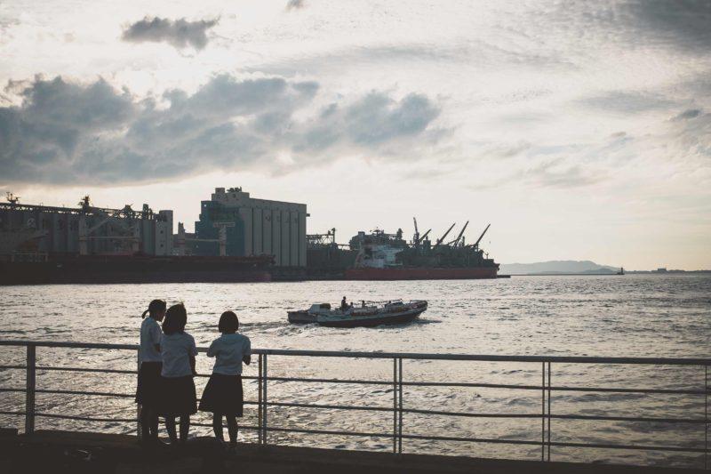 博多港の夕日に今年も会えた
