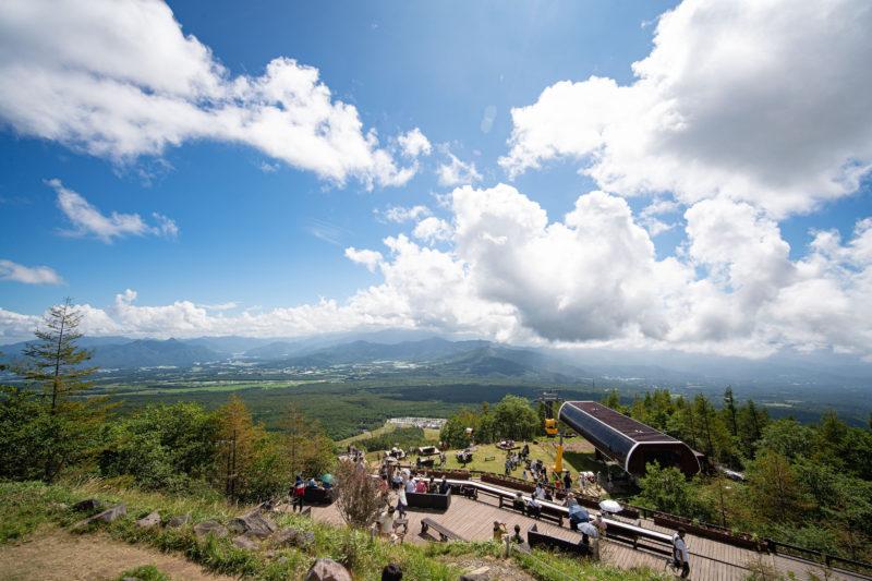 今年は野辺山を清里テラスから見下ろす